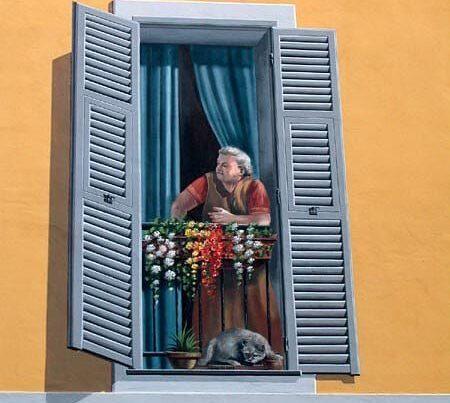 finestre dipinte